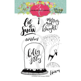 """C3WW267 Colorado Craft Company Clear Stamps Let It Snow-Whimsy World 4""""X6"""""""