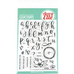 "304061 Avery Elle Clear Stamp Set Modern Calligraphy 4""X6"""