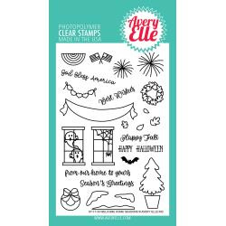 "106322 Avery Elle Clear Stamp Set Welcome Home Seasons 4""X6"""