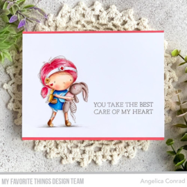 "RAM006 My Favorite Things Clear Stamps Care Of My Heart 4""X4"""