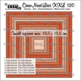 CLNestXXL120 Crealies Crea-nest-dies XXL Vierkanten met vierkante gaatjes