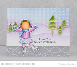 BG-111 My Favorite Things Simple Snowflakes Background Stamp