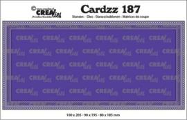 CLCZ187 Crealies Cardzz Slimline G Gaatjes