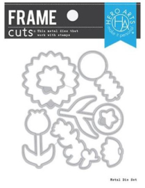 654824 Hero Arts Frame Cut Dies Line Art Flowers