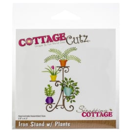 CC444 Cottage Cutz Die Iron Stand W/Plants