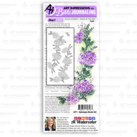 623319 Art Impressions Bible Journaling Clear Stamps Hydrangea Border