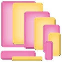 S5-172 Spellbinders Nestabilities A2 Card Creator Dies Curved Matting Basics B