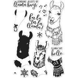 "520936 Hero Arts Clear Stamps Fa La Llama 4""X6"""