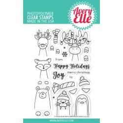 "541781 Avery Elle Clear Stamp Set Polar Peek-A-Boo Pals 4""X6"""