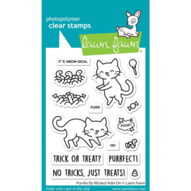 """LF2666 Lawn Fawn Clear Stamps Purrfectly Wicked Add-On 3""""X4"""""""