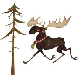 663103 Sizzix Thinlits Dies Merry Moose By Tim Holtz 12/Pkg