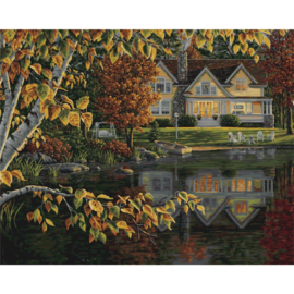 "307207 Paint By Number Kit Autumn Reflections 16""X20"""