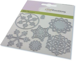 115633/0834 CraftEmotions Die kerstbal rond multi ornament Card 11x9cm - 82 mm