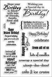 477337 Stampendous Clear Stamps Birthday Assortment