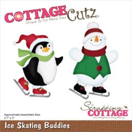 """CC921 CottageCutz Dies Ice Skating Buddies 2.7""""X3"""""""