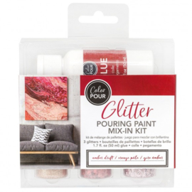348482 American Crafts Color Pour glitter mix amber