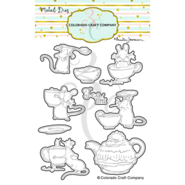 651205 Colorado Craft Company Metal Die Set Tea Time Fun-By Anita Jeram