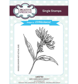 UMS784 Single Stamp Michaelmas Daisy