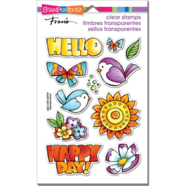 "247799 Stampendous Perfectly Clear Stamps Happy Birds 7.25""X 4.625"""