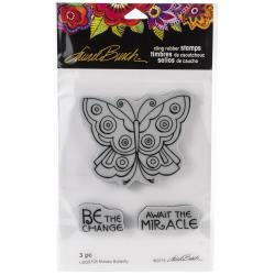 580574 Stampendous Laurel Burch Cling Stamp Mosaic Butterfly