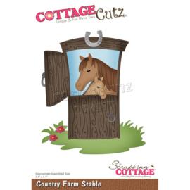 "CC891 CottageCutz Dies Country Farm Stable 3.4""X4.1"""