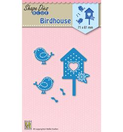 SDB032  Nellie's Choice Shape Dies Birdhouse