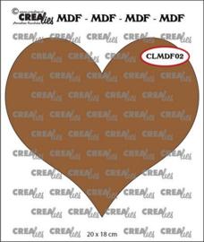 CLMDF02 Crealies MDF hart