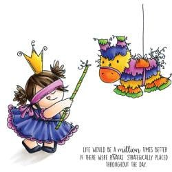 """400995 Stamping Bella Squidgy Cling Stamp Pinata Squidgy 6.5""""X4.5"""""""