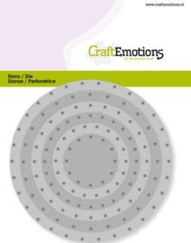115633/0831 CraftEmotions Die - cirkels vintage - klinknagels Card