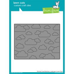 LF1423 Lawn Cuts Custom Craft Die Outside In Stitched Square Stackables