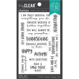 663186 Hero Arts Clear Stamp Autumn Messages