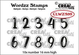 CLWZS99 Crealies Clearstamp Wordzz Cijfers