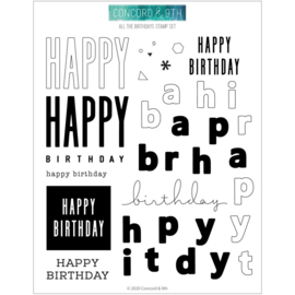 "638779 Concord & 9th Clear Stamps All The Birthdays 6""X8"""