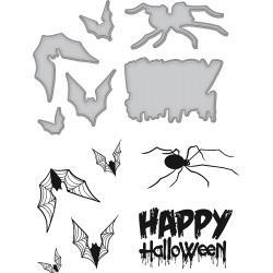 SDS067 Spellbinders Stamp & Die Set By Stephanie Low Happy Halloween