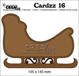 115634/5116 Crealies Cardzz no 16 Slee CLCZ16 145 x 104 mm