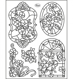 6978 Viva Decor Clear Stamps Tiffany Window