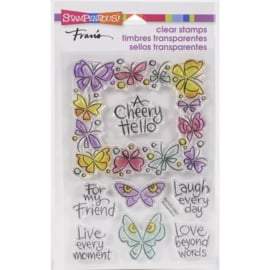 645706 Stampendous Perfectly Clear Stamps Winged Frame