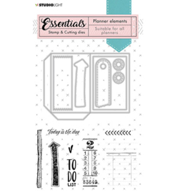SL-PES-SCD02 StudioLight Stamp & Cutting Die Planner elements Planner Essentials nr.02