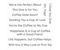 CS-416 My Favorite Things Cup of Love Clear Stamps
