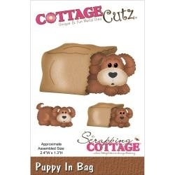 120037 CottageCutz Elites Die In The Woods Puppy In Bag