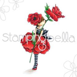 "370273 Stamping Bella Cling Stamp Tiny Townie Garden Girl Poppy 6.5""X4.5"""