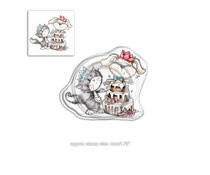 PD7863 Polkadoodles Horace & Boo Suprise Clear Stamp
