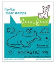 """LF2597 Lawn Fawn Clear Stamps Duh-Nuh Flip-Flop3""""X2"""""""