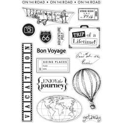 """588353 Hero Arts From The Vault Clear Stamp Travel 4""""X6"""""""