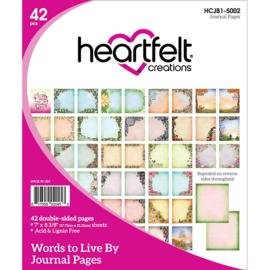 318320 HCJB1 5002 Heartfelt Creations Journal Pages Words To Live By