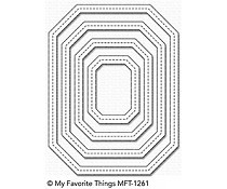 MFT-1261 My Favorite Things Die Single Stitch Line Tag-Corner Rectangle Frames