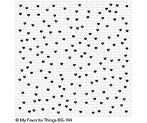 BG-104 My Favorite Things Backgroud stamp Scattered Hearts