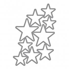 S5244 Spellbinders Shapeabilities Dies Cascading Stars