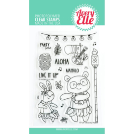 """656893 Avery Elle Clear Stamp Set Luau Party 4""""X6"""""""