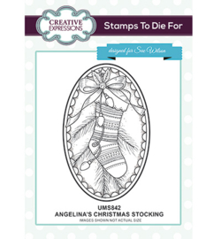 UMS842 To Die For Stamp Angelina's Christmas Stocking